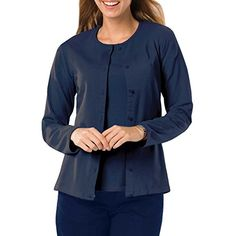 Amy Alder Womens Classic-Fit Basic Button-Front Cardigan in Navy adds soft premium Egyptian cotton to your red, white and blue celebration. Pair it with our coordinating shell; perfectly keeps cool breezes at bay. Only at GuyGifter!