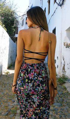 #street #style summer pattern print dress @wachabuy