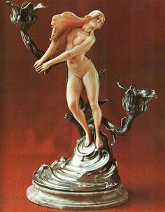 Art Nouveau candelabra by Franz Hoosemans.