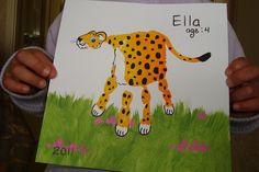 Lepard  - handprint art by Milinda, Edward, Maggie & Ella, via Flickr