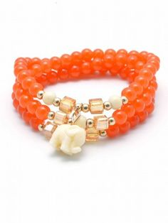 Elephant Beaded Bracelet--Available in 9 colors - Clever Girl