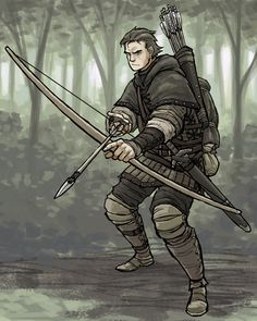 qwerty - Humano Arqueiro Fantasy Character Design, Character Concept, Character Art, Concept Art, Fantasy Armor, Medieval Fantasy, D D Characters, Fantasy Characters, Fantasy Inspiration