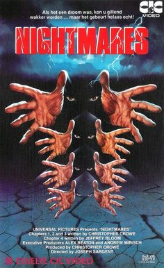 Nightmares (1983) foreign VHS box art