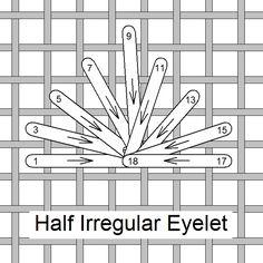 Half Irregular Eyelet