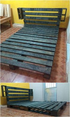 How interesting it would be if you would be getting bed frame all in one custody check! If you are desiring of the same prospect then do check out with this amazing wood pallet bed frame design work! It has been much simple put together in the simple arrangement of the pallet planks.