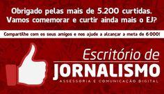 Arte para postagem comemorativa - cliente: Escritório de Jornalismo