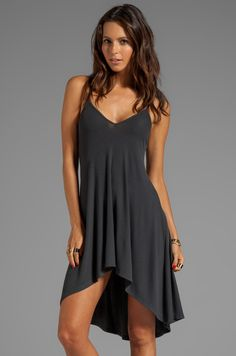 AGAIN Trinity Soft Rib Nighty Dress in Musk | REVOLVE