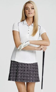 Blue Skies Tail Ladies White & Black Golf Outfit at #lorisgolfshoppe