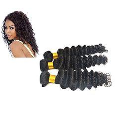 Moresoo komplette Kopf Sew in Weave Deep Wave/ Tiefes Lockiges EchtHaar Tressen Extensions, Brasilianisch Virgin Haare 14+16+18zoll/35+40+45cm Moresoo http://www.amazon.de/dp/B00UV2FFPC/ref=cm_sw_r_pi_dp_eHT9vb1K903MK