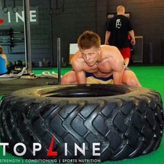Marcin Held, Bellator MMA's top lightweight fighter shown here flipping a tire as part of a fight camp conditioning program prior to his $100,000 victory in the summer of 2014.  Before you start flipping, make sure you have good technique.  We teach you here in this video. https://youtu.be/_s6fi1tPxnI