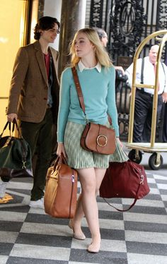 Timothée Chalamet and Elle Fanning on the Set of Woody Allen's Next Movie New York Movie, Stupid Girl, Fashion Outfits, Womens Fashion, Fashion Movies, Woody Allen, Elle Fanning, S Girls, What I Wore