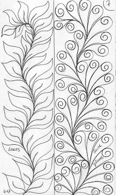 Ideas for free motion quilting templates sketch books Quilting Stencils, Quilting Templates, Longarm Quilting, Free Motion Quilting, Machine Quilting Patterns, Quilt Patterns, Zentangle Patterns, Zentangles, Henna Patterns