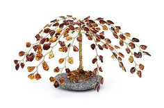 Hand Made Amber Gemstone Tree (Rare and Unique) Amber Tree, Amber Gemstone, Decorative Bowls, Ceiling Lights, Gemstones, Unique, Handmade, Hand Made, Gems