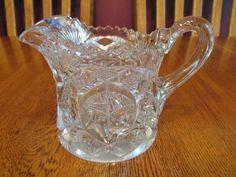 Gorgeous Vintage EAPG McKee Nortec Centipede Clear Glass Creamer