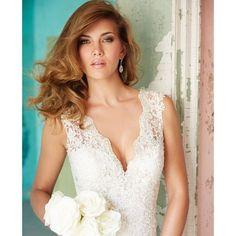 Wedding Dresses Photos, Used Wedding Dresses, Designer Wedding Dresses, Bridal Dresses, Wedding Gowns, Lace Wedding, Dream Wedding, Allure Bridal Lace, Illusion Neckline Wedding Dress