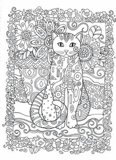 Creative Cats Adult Colouring Book I Marjorie Sarnat Davlin Publishing