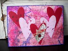 #ATC #bird #collage #love #heart #valentine