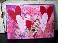 #ATC #bird #collage #love #heart #valentine