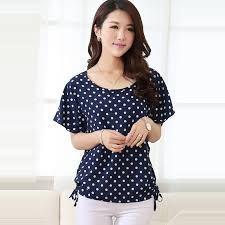 9b439731703 Summer Style Blouse Shirt Women Blouses Feminines Polka Dot Print Blouse  Bat Sleeve Plus Size Women Tops Ladies Chiffon Shirt