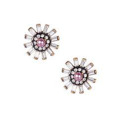 Baguette Flower Stud Earrings $38.00