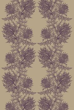 Thistle in Beetroot from Timorous Beasties #linen #fabric
