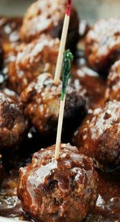 Pineapple Barbecue Sauce Glazed Meatballs