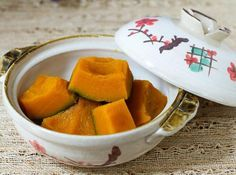 Simmered Kabocha Squash Recipe — La Fuji Mama - One of my daughter's favorite Japanese dish!