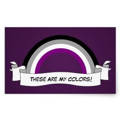 Asexuality rainbow pride Stickers