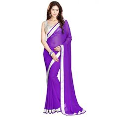 Regal Georgatte Lace Work Festive Wear & Party Wear Saree at just Rs.540/- on www.vendorvilla.com. Cash on Delivery, Easy Returns, Lowest Price.