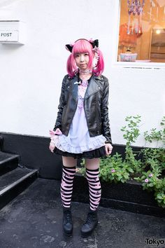 Moco in Fairy Kei Fashion in Harajuku.  *From Tokyo Fashion*