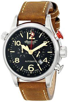 Ingersoll - IN3218BK - Montre - Automatique - Analogique - Homme - Cadran - Noir - Bracelet - Cuir - Marron: Amazon.fr: Montres