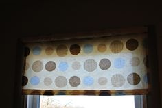 Made this blind from the same sheets that I used for the curtains~