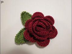 How to Crochet a Flower: Crochet Wagon Wheel Flower Free Crochet Pattern - YouTube