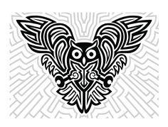 tribal owl stencils - Google Search