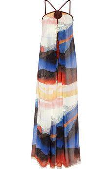 Diane von Furstenberg Robe longue du soir en mousseline de soie imprimée Teddy | NET-A-PORTER