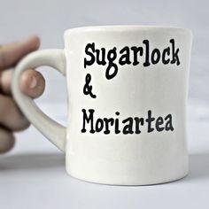 Sherlock Holmes, Tea cup,diner mug, black white, Moriarty, mystery, literature, unique mug, funny mug, Sherlock