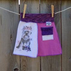 Repurposed, upcycled toddler t-shirt skirt, puppy by SewRevival on Etsy