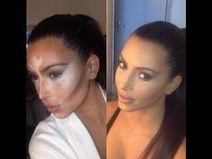 #Kim #Kardashian Contour #Tutorial #makeup