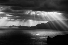 I always thought the rays of sun were God shining down on earth.