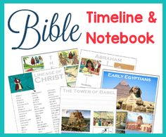 Free Bible Timeline (Over 200 Full Color Cards), Blank Timeline Pages to create your own book, and TONS of Free Notebooking Visuals.