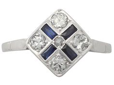 0.16 ct Sapphire and 0.42 ct Diamond, 14 ct White Gold Dress Ring - Antique Circa 1920 SKU: A3834 Price GBP £1,295.00 http://www.acsilver.co.uk/shop/pc/0-16-ct-Sapphire-and-0-42-ct-Diamond-14-ct-White-Gold-Dress-Ring-Antique-Circa-1920-35p7903.htm#.Vkx3gL88rfc