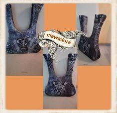 eine Trockenblumen - Vase aus Pappe selbst erstellt Platform, Bra, Heels, Fashion, Cardboard Paper, Florals, Heel, Moda, Fashion Styles
