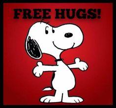 SNOOPY ❤ FREE HUGS!