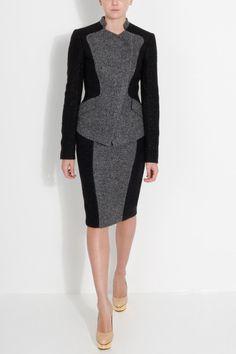 Elie Saab collarless tween blazer and skirt
