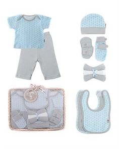 Elephant baby gift elephant baby shower corporate baby gift mod zoo 5pc layette gift set negle Images
