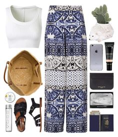 """""""Royce Moonshine"""" by sophiehackett ❤ liked on Polyvore featuring Topshop, Alaïa, Windsor Smith, Royce Leather, Ceramiche Pugi and Sophie Hulme"""