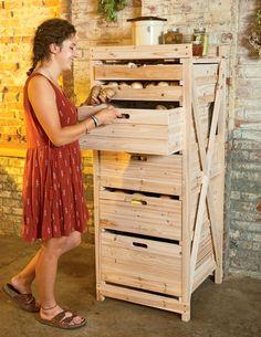 Deep Drawer Harvest Storage Rack from Gardener's Supply