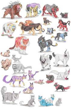 Dog Pokemon by DragonlordRynn on DeviantArt Cat Pokemon, Pokemon Sketch, Pokemon Breeds, Pokemon Fan Art, Pokemon Sun, Hunter Pokemon, Pokemon Na Vida Real, Pokemon In Real Life, Cartoon Drawings
