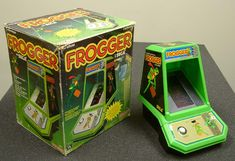 Tabletop Frogger. I had a Pac Man one of these as a kid.