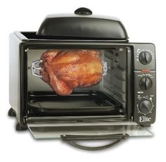 MaxiMatic Elite Cuisine 6-Slice Toaster Oven with Rotisserie and Grill/Griddle Top from Visual Stylist